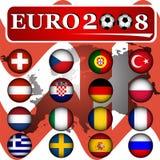 2008年横幅欧元 库存照片