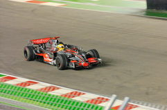 2008年汽车f1哈密尔顿刘易斯mclaren s新加坡 库存图片