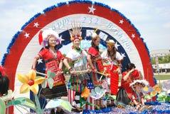 2008年美国日独立游行s 库存照片