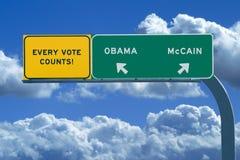 2008年选择总统信号 库存图片