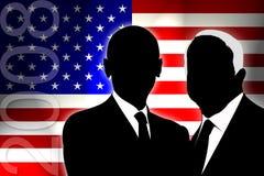 2008年选择美国 库存例证