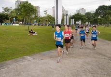 2008年马拉松运动员新加坡 图库摄影