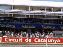 2008年catalunya f1全部prix 免版税图库摄影