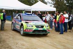 2008年raly意大利sardegna wrc 库存照片