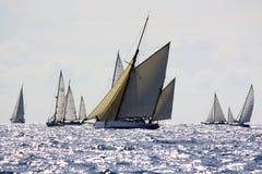 2008条挑战经典panerai游艇 库存图片