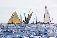 2008条挑战经典panerai游艇 免版税库存照片