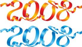 2008条蓝色红色丝带 免版税图库摄影
