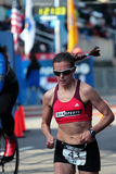 2008 épreuves olympiques du marathon des femmes des USA, Boston Images stock