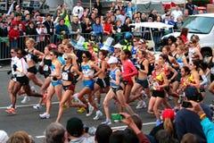 2008 épreuves olympiques du marathon des femmes des USA, Boston Image libre de droits