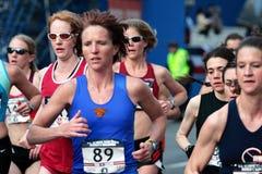 2008 épreuves olympiques du marathon des femmes des USA, Boston Photo stock