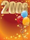 2008 μπαλόνια Στοκ Εικόνες