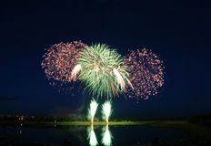 2008 πυροτεχνήματα ανταγωνισμού στοκ εικόνες με δικαίωμα ελεύθερης χρήσης