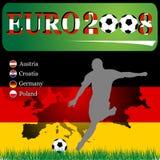 2008 евро Германия иллюстрация штока