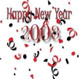 2008 счастливых Новый Год бесплатная иллюстрация
