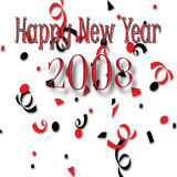 2008 счастливых Новый Год Стоковое Фото
