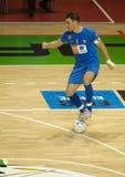 2008 2009托起futsal uefa 库存照片