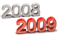 2008-2009. Transition with 2008 for 2009 new years royalty free illustration