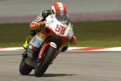 2008 250cc Marco italiano Simoncelli Fotografia de Stock Royalty Free