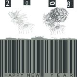 2008. Fireworks with a barcode Stock Photo