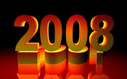 2008. Happy new year,  happy new year ,  happy new year Royalty Free Stock Images