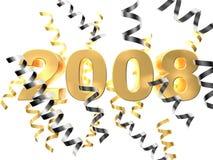 2008. 3d rendered illustration of golden numerics and ribbons Vector Illustration