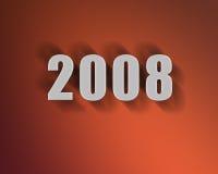 2008 3D met aardige schaduw Stock Foto