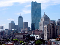 2008年波士顿线路天空 免版税库存照片