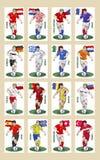 2008 alla euroserielag Fotografering för Bildbyråer
