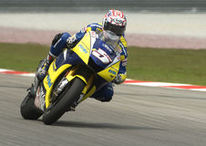 2008 americano Colin Edwards da tecnologia 3 Yamaha Fotografia de Stock Royalty Free