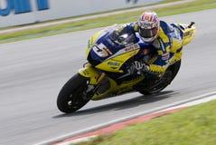 2008 americano Colin Edwards da tecnologia 3 Yamaha Imagem de Stock Royalty Free