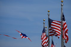 2008 amerykańskich festiwal latawiec Smithsonian flagę Fotografia Stock