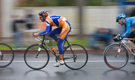 2008 AMGEN Tour of California Bike Race. Bauke MOLLEMA (#057) sprints during the stage #2 circuit in downtown Sacramento at the 2008 AMGEN Tour of California Royalty Free Stock Photos