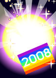 2008 anos novos felizes Fotografia de Stock Royalty Free