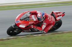2008 Australier Casey Entkerner von Ducati Marlboro Lizenzfreie Stockbilder