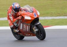 2008 Australische Ontpitter Casey van Ducati Marlboro stock fotografie