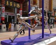 2008 beeldhouwwerken van de de zomer de Olympische stad van Peking Stock Fotografie