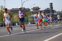2008 Beijing zawody międzynarodowe maraton Obraz Royalty Free