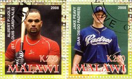 2008 best baseball players Royalty Free Stock Image