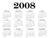 2008 Calendar Royalty Free Stock Photography