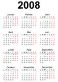 2008 calendar Stock Photography