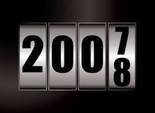 2008 change. New year illustration for 2008 with a dial effect Stock Photography