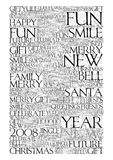 2008 Chiristmas Background. Typographic christmas background. 2008 new year message Royalty Free Stock Photo