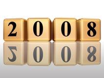 2008 com reflexão Fotos de Stock Royalty Free