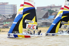 2008 cup monsoon race sailing Arkivfoto