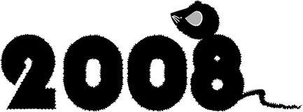 2008 - ein Jahr der Ratte Stockfoto