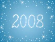 2008 estrellas Foto de archivo libre de regalías