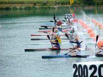 2008 Europese Kampioenschappen Flatwater Royalty-vrije Stock Foto