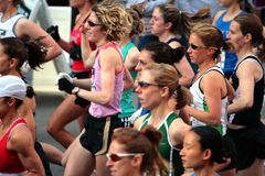 2008 experimentações olímpicas da maratona das mulheres dos E.U., Boston Foto de Stock