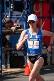 2008 experimentações olímpicas da maratona das mulheres dos E.U., Boston Imagem de Stock