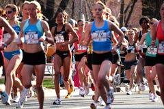 2008 experimentações olímpicas da maratona das mulheres dos E.U., Boston Fotografia de Stock